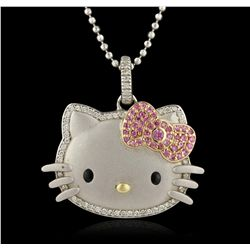 Kimora Pave Set Crystal Hello Kitty Style Fashion Pendant GB3115
