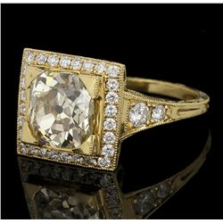 18KT Yellow Gold 3.10ctw Diamond Ring LAJB2