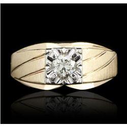 14KT Yellow Gold 0.50ctw Diamond Ring GB2517