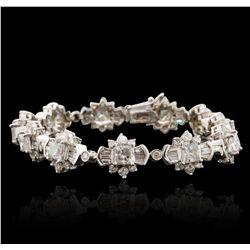 14KT White Gold 15.10ctw Diamond Bracelet A6783