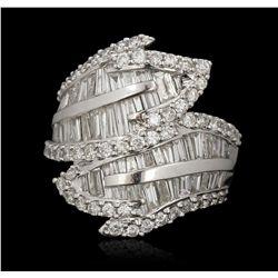 14KT White Gold 3.00ctw Diamond Ring FJM3127
