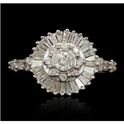 14KT White Gold 1.10ctw Diamond Ring FAA63