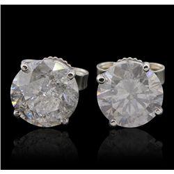 14KT White Gold 2.91ctw Diamond Stud Earrings GB4833