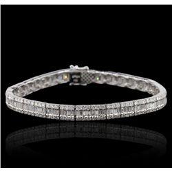 18KT White Gold 6.83ctw Diamond Bracelet GB4843