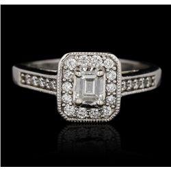18KT White Gold 1.00ctw Diamond Ring GB2327