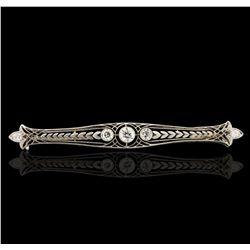 Platinum 1.04ctw Diamond Brooch A6626