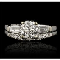 14KT White Gold 1.39ctw Diamond Wedding Set GB3523