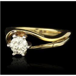 14KT Yellow Gold 0.50ct VS-1/J Diamond Ring GB1785