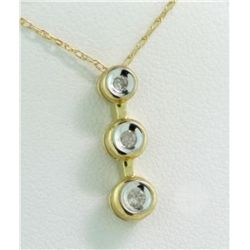 10KT Yellow Gold Diamond Pendant 1/15ct RTJ210
