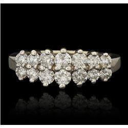 14KT White Gold Vintage 0.47ctw Diamond Cocktail Ring JRM276
