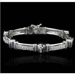 14KT White Gold 1.50ctw Diamond Bracelet GB2599