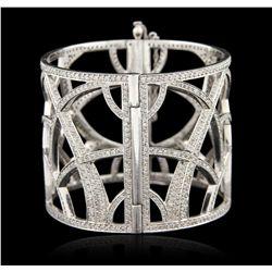 14KT White Gold 14.05ctw Diamond Bangle Bracelet GB3647
