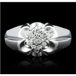 14KT White Gold 0.25ctw Diamond Ring GB2689
