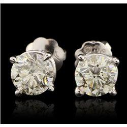 14KT White Gold 0.84ctw Earrings GB4466