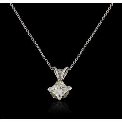 14KT White Gold 0.75ct Diamond Pendant with Chain GB2803