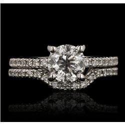 14KT White Gold 1.54ct Diamond Wedding Set A6814