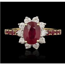14KT Yellow Gold 1.70ct Ruby and Diamond Ring RM1783