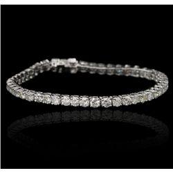 14KT White Gold 7.69ctw Diamond Tennis Bracelet A5394