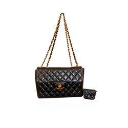 Authentic Chanel Black Timeless Classic Flap Bag LB17