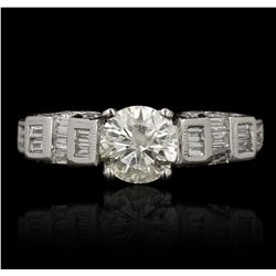 18KT White Gold 1.02ct I-1/J Diamond Ring GB3507