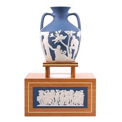 250th Prestige Collection Wedgwood Portland Vase with Stand ED1552