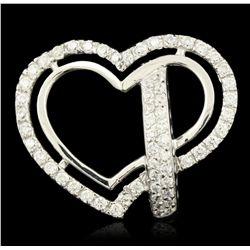 18KT White Gold 1.60ctw Diamond Heart Shaped Ring GB1911