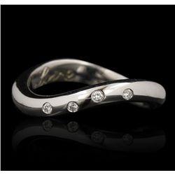 14KT White Gold 0.11ctw Diamond Ring GB4630