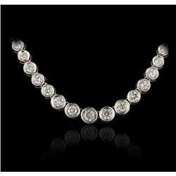 14KT White Gold 4.00ctw Diamond Necklace GB4720