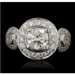 18KT White Gold 1.23ct I-1/J Diamond Ring GB3504