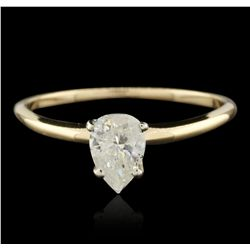 14KT Yellow Gold 0.20ctw Diamond Solitaire Ring GB4415