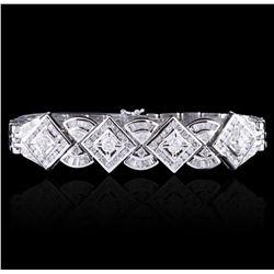 18KT White Gold 3.43ctw Diamond Bracelet A4812