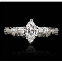 14KT White Gold 0.54ct GIA Certified Diamond Ring GB3493