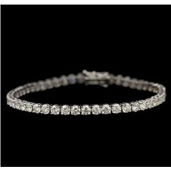 18KT White Gold 7.96ctw Diamond Tennis Bracelet A6764