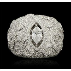 14KT White Gold 2.91ctw Diamond Ring FJM3159