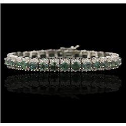 14KT White Gold 13.15ctw Alexandrite & Diamond Bracelet DJ53