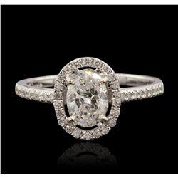 14KT White Gold 1.01ctw Diamond Ring RM1829