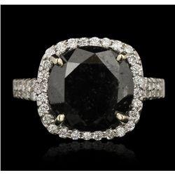 18KT White Gold 7.38ct Black Diamond Ring RM1808