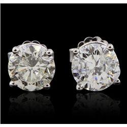14KT White Gold 1.98ctw Diamond Stud Earrings GB4817