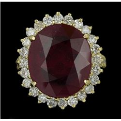 14KT Yellow Gold 16.41ct Ruby and Diamond Ring AJF40