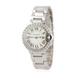 Ladies Cartier 18KT White Gold Ballon Bleu Wristwatch GB3425