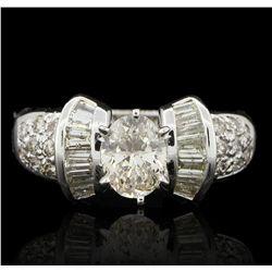 18KT White Gold 1.34ctw Diamond Ring A6022
