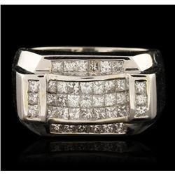 18KT White Gold 2.65ctw Diamond Ring GB4332