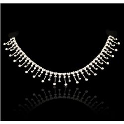 14KT White Gold 2.81ctw Diamond Necklace GB4190