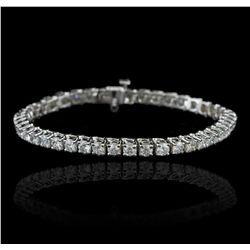14KT White Gold 8.94ctw Diamond Tennis Bracelet A5791