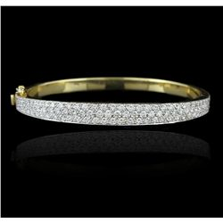 18KT Yellow Gold 2.23ctw Diamond Bangle Bracelet A5793