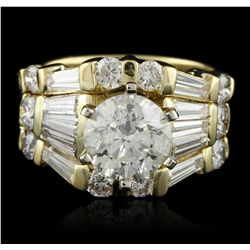 18KT Yellow Gold 1.55ct I-1/K Diamond Ring A5450