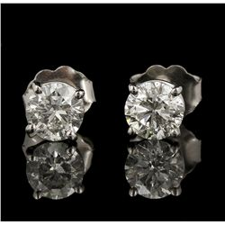 14KT White Gold 1.02ctw Diamond Solitaire Earrings GB4390