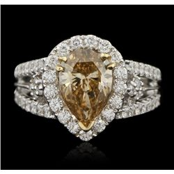14KT White Gold 2.11ct Light Brown Diamond Ring RM1382