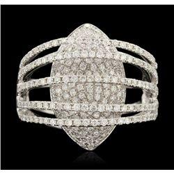 18KT White Gold 1.50ctw Diamond Fashion Ring GB4346
