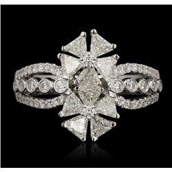 18KT White Gold 0.36ctw Diamond Ring FJM3125